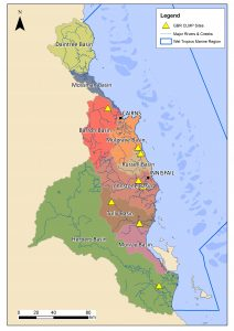map of the wet tropics australia